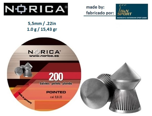 NORICA CHUMBO POINTED 5,5mm 200
