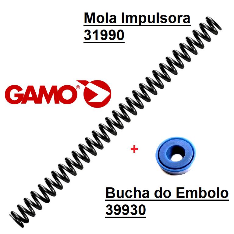 Gamo Airgun Mainspring 24J - ref 31990-33,5 & Piston Seal 39930
