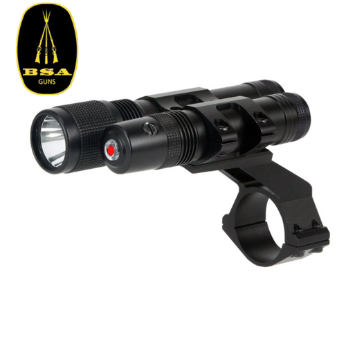 BSA Red LASER + LED Flashlight 140 Lumen