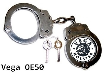 Vega Nickel Handcuffs OE50 with keys