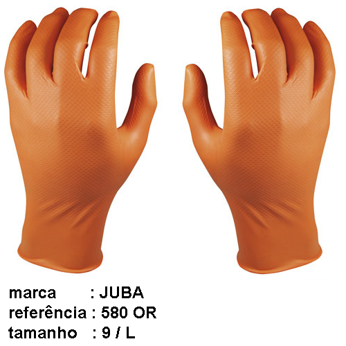 JUBA-Disposable ambidextrous nitrile gloves ( 1 pair )
