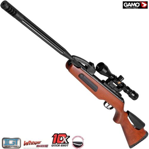 Gamo Replay 10 Elite IGT4,5mm+1carregador 10 tiros +mira 3-9x40mm WR -23,9J