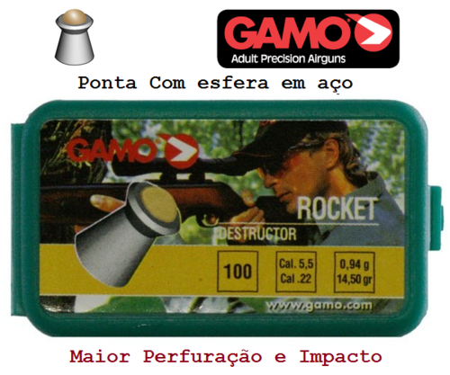 Chumbo Gamo Rocket 100 5,5mm - últimas unidades