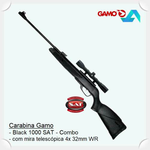 Gamo-Black 1000 (SAT) Combo L4x32 .177in
