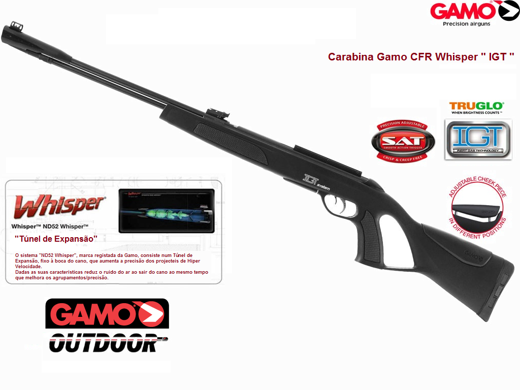 Gamo - CFR Whisper IGT Gás RAM  177in - Fixed Barrel Airgun