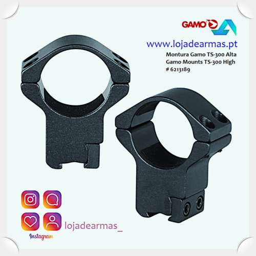 Ring Mounts Gamo TS300 high 30mm