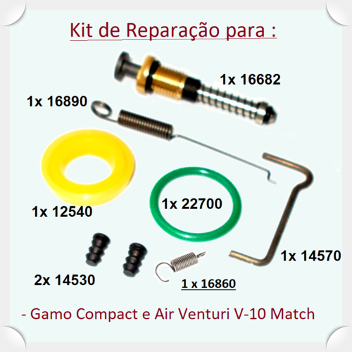 Gamo Compact PCA Pistol - Main Repair Kit -  - Loja de Armas ( Shop of Guns ) Gunsmith