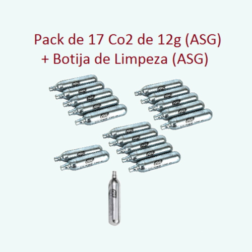 CO2 cylinders 12 grams-17 pcs + 1