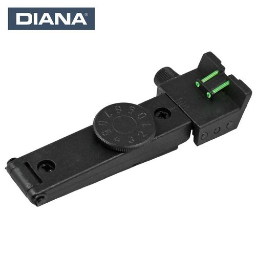 Diana Rear Sight with Optic Fiber #30840700 for all versions from the last model 25