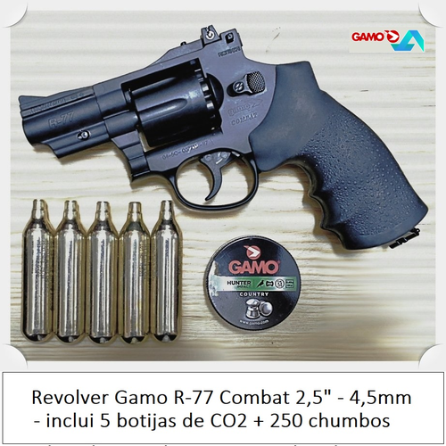 Gamo R-77 Combat CO2 Revolver 2,5in Barrel