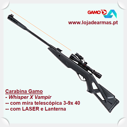 Gamo Airgun, Whisper X VH ( VH 3-9x 40mm WR ) Vampir