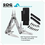 SOG-Multi Tool Power Grab com Hex Bits e Bainha