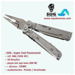 SOG-Multi Tool-Power Assist S66 Super Tool ( SOG 30 ) com Bainha
