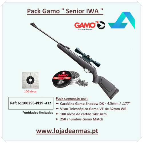 "Gamo Shadow DX Combo VE 4x 32mm WR - cal- .177"" - 4,5mm"