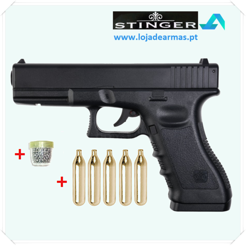 "Stinger MK1 - G-17 .177"" / 4,5mm BBs CO2 pistol with CO2 and BBs"