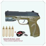 GAMO PT85 DRAB LASER CO2 - with 4 co2 bottles & 250 pellets