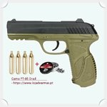 PT-85 co2 Blowback pistol  by Gamo with 4 co2 bottles & 250 pellets