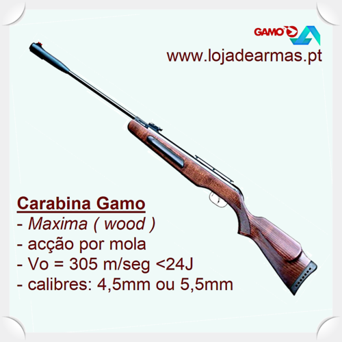 Maxima .177in Gamo airgun break barrel & wood stock