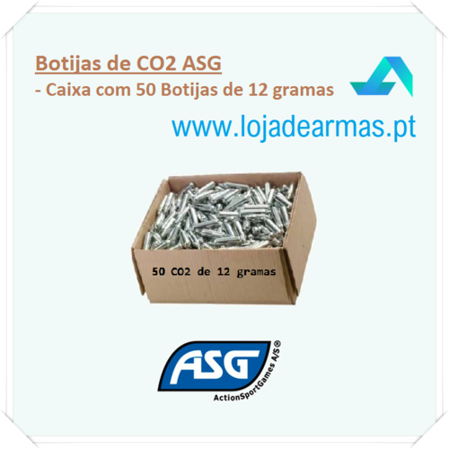 CO2 cylinders 12 grams ASG pack 50 ( only Portugal )