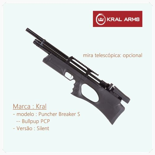 KRAL Puncher Breaker Silent - Carbine PCP .177 / 4,5mm stock polymers - available by Prior Order
