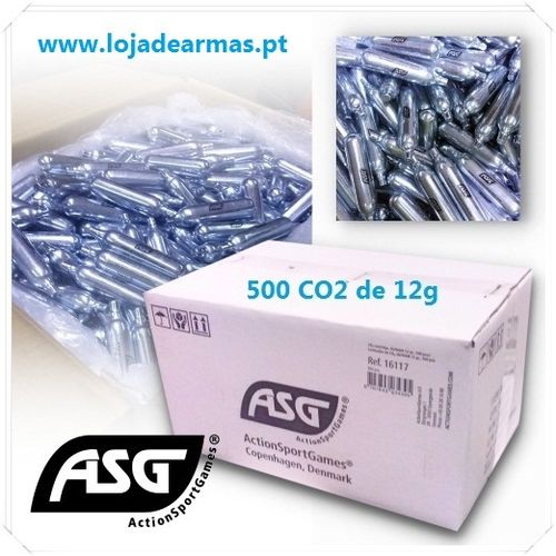 ASG CO2 cylinders 12 grams pack box 500pcs