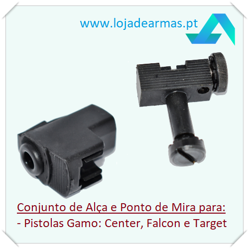 Gamo - Rear Sight and Front Sight for Falcon / Target / Center - Spring Pistol