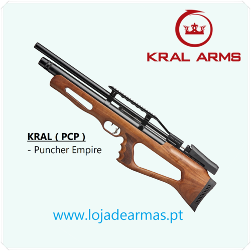 KRAL Puncher Empire - Carbine PCP .22 / 5,5mm stock Turkish Walnut - available by Prior Order
